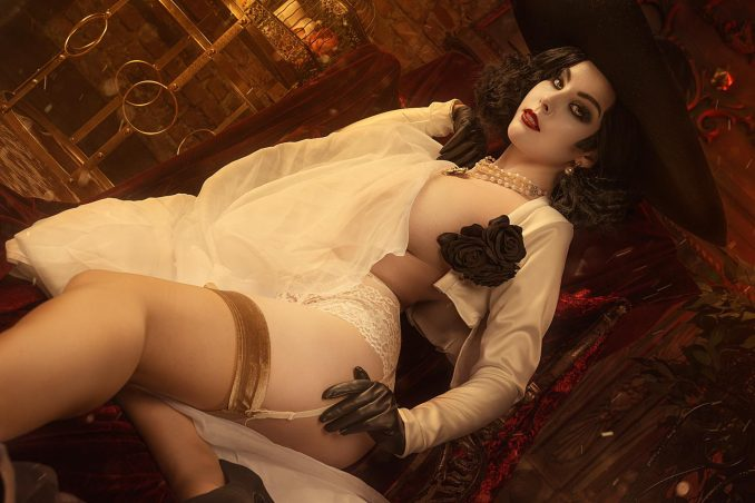 Lady Alcina Dimitrescu from Resident Evil cosplay by Helly Valentine:  cosplaygirls